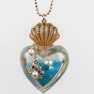 Betsey Johnson Sealife Heart Necklace